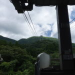 View of the summit from Hakone-en Station