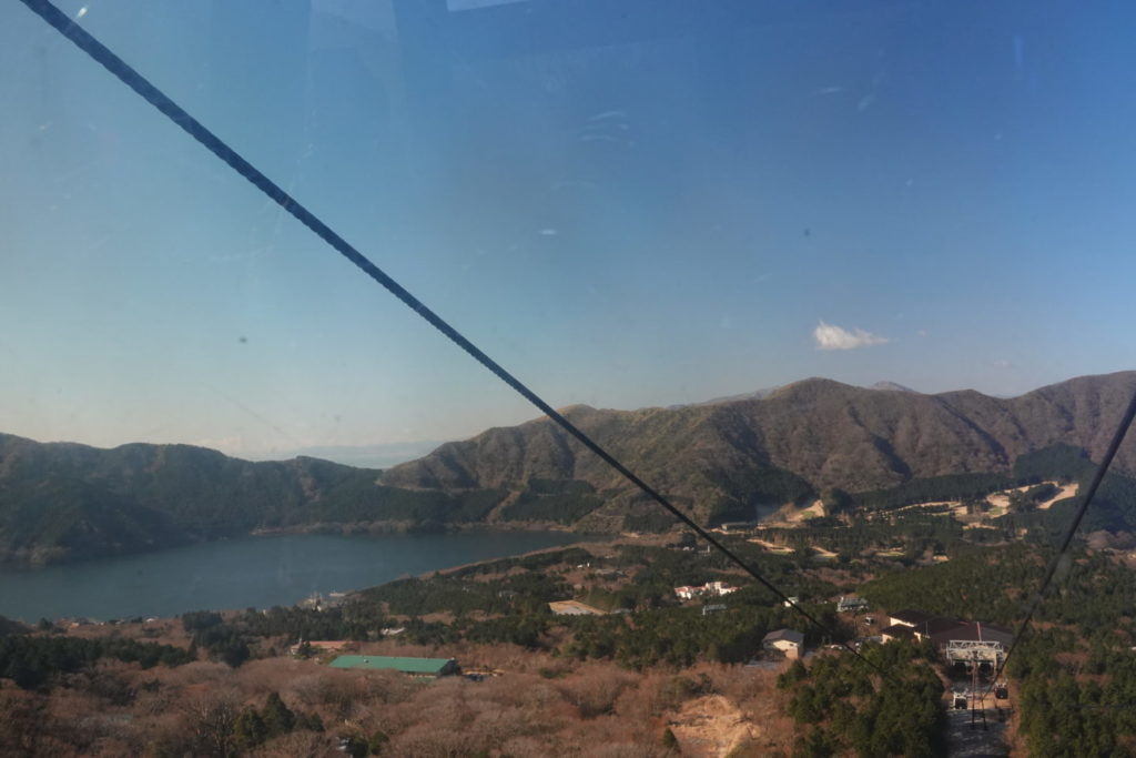 Hakone ropeway between Owakuya station and Yoko station