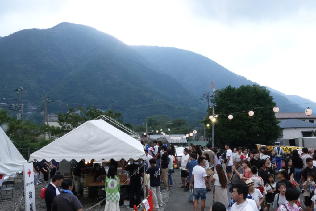 Hakone Gora Summer Festival queima de carta capital Local do evento